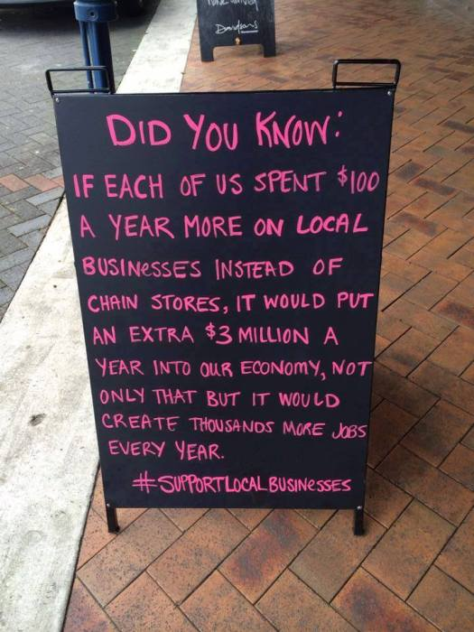 8 shop local sign